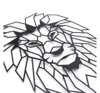 Déco Murale Métal Lion de face