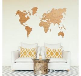 Inspiration d'interieur avec notre Decoration Bois Carte du Monde