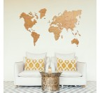 Inspiration of our wood world map wall decoration