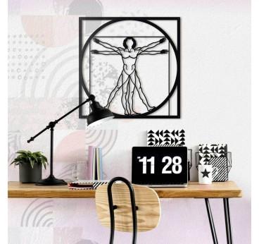 Vitruvian Man Metal Wall Decoration