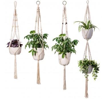 Macrame Mural Multiple Plantes
