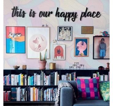 Deco Metallique Happy Place