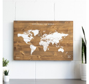 Wall decoration in wood of the world for original design