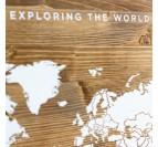 Explorez le monde avec notre carte murale en bois design