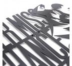 Design métallique de la décoration danse pour vos murs