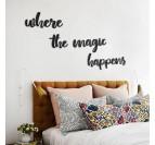 Déco design de citation dans une chambre boho pour votre intérieur