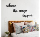 Magic wall design decoration in metal on a modern room