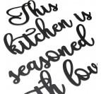 Support métal de notre déco cuisine amour pour votre intérieur