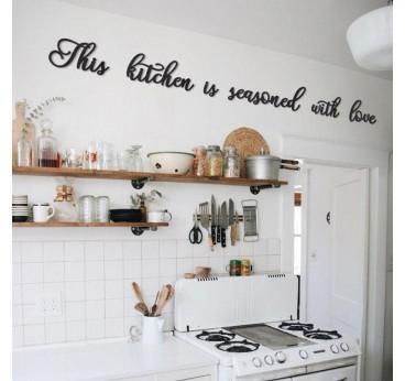 Kitchen metal wall decoration for a unique space