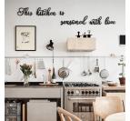 Déco métal design d'une citation pour cuisine pour un intérieur unique