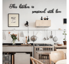 Quote metal wall decoration for kitchen with a design touch
