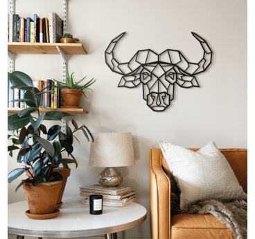Metal Buffalo Decoration for a animal and nature interior