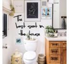 Décoration murale design en métal pour l'intérieur de vos toilettes avec cette citation