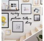 Decoration métallique design de citation pour un mur plein d'inspiration