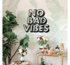 No bad vibes metallic decoration for a modern interior