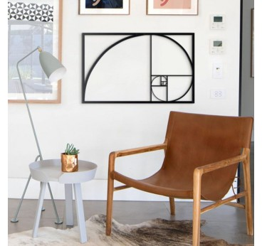 Metal Decoration Golden ratio in a modern interior for inspiration