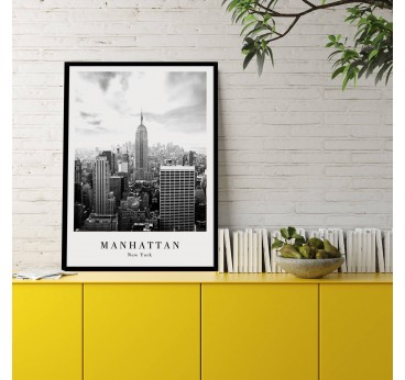 Deco poster of Manhattan to create a beautiful interior with this famous city