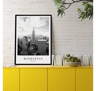 Poster mural design de la ville de Manhattan dans une décoration intérieure moderne