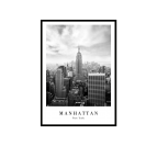 Black and white deco poster of Manhattan for a stylish interior decoration