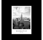 Poster déco de Manhattan dans un style noir et blanc