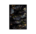 Design and exotic leafs in a deco wall poster with his frame