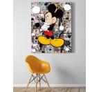 Tableau pop art du personnage mickey dans un salon moderne