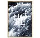 Wall poster hope with a nature touch in the sea for a modern interior decoration