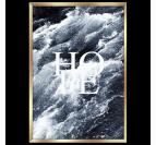 Poster design avec son cadre doré de l'océan et l'inscription Hope pour une décoration murale contemporaine