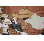 Différents pays sur la carte du monde en bois déco moderne