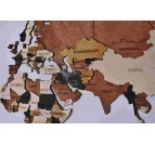 Pays en relief sur la décoration murale carte du monde design