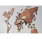 Carte du monde en bois design et 3D