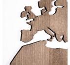 Détails de notre carte du monde bois en décoration murale