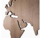 Détails en bois de la carte du monde en déco design murale