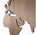 Natural color of our wooden world map decoration