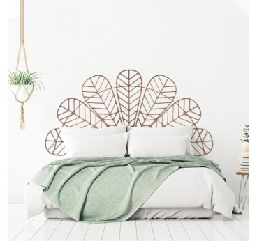 Headboard wooden wall decoration for a bohemian touch into your home