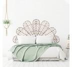 Décoration murale en bois pour tête de lit afin de créer une chambre moderne et naturelle