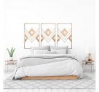 Ethnic wooden wall decoration for a boho interior