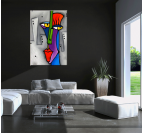 Pop Art Face Abstract Painting