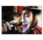 Peinture Moderne Johnny Depp Face