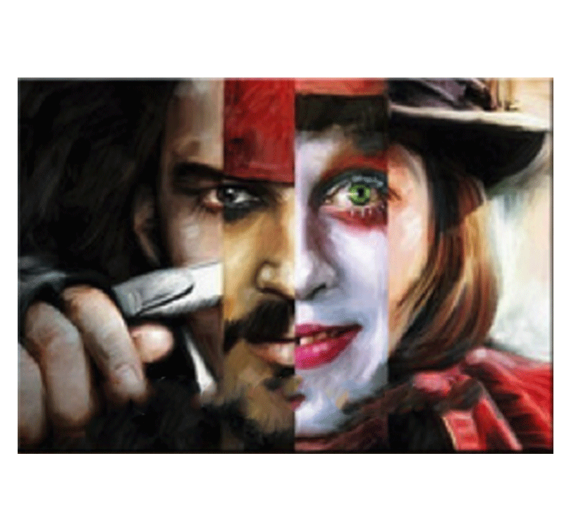 Peinture moderne johnny depp face for Photos de peinture moderne