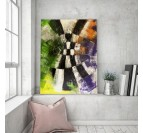 Interior decoration with our modern wall canvas and an abstract touch