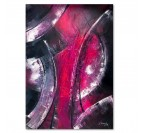 Pink wall art decoration on a wood frame for interior