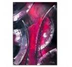Tableau abstrait déco design pour une décoration murale dans des couleurs roses