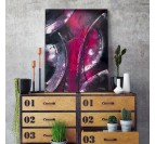 Trendy pink abstract wall canvas for a unique living room decoration