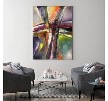 Tableau abstrait aura avec des couleurs originales pour votre décoration murale design