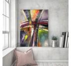 Tableau abstrait de salon avec des couleurs uniques
