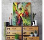 Toile imprimée abstraite pour une décoration intérieure tendance