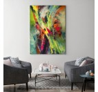 Décoration murale salon avec ce tableau abstrait coloré pour votre intérieur