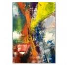 Tableau déco en version abstraite avec des couleurs jaunes et oranges pour votre déco intérieure