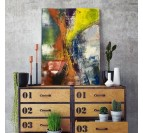 Modern abstract wall decoration with our canvas print